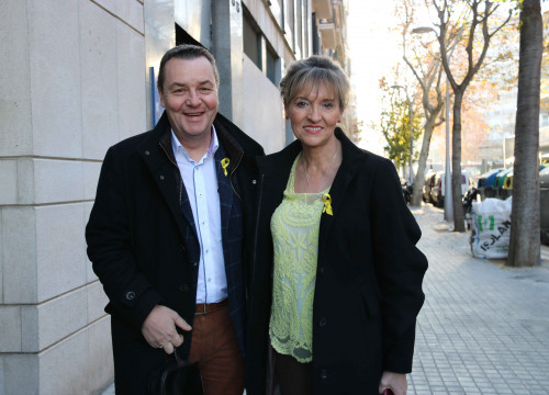 MEPs Mark Demesmaeker and Martina Anderson (by ACN)