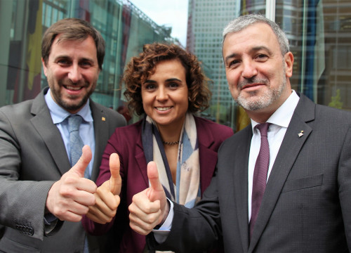 Catalan Minister for Health, Toni Comín, his Spanish homologue, Dolors Montserrat and Barcelona's Deputy Mayor, Jaume Collboni, presented in London Barcelona's candidature to host the EMA (by ACN)