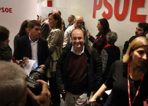 PSC's leader, Miquel Iceta, during PSOE's federal committee (by ACN)