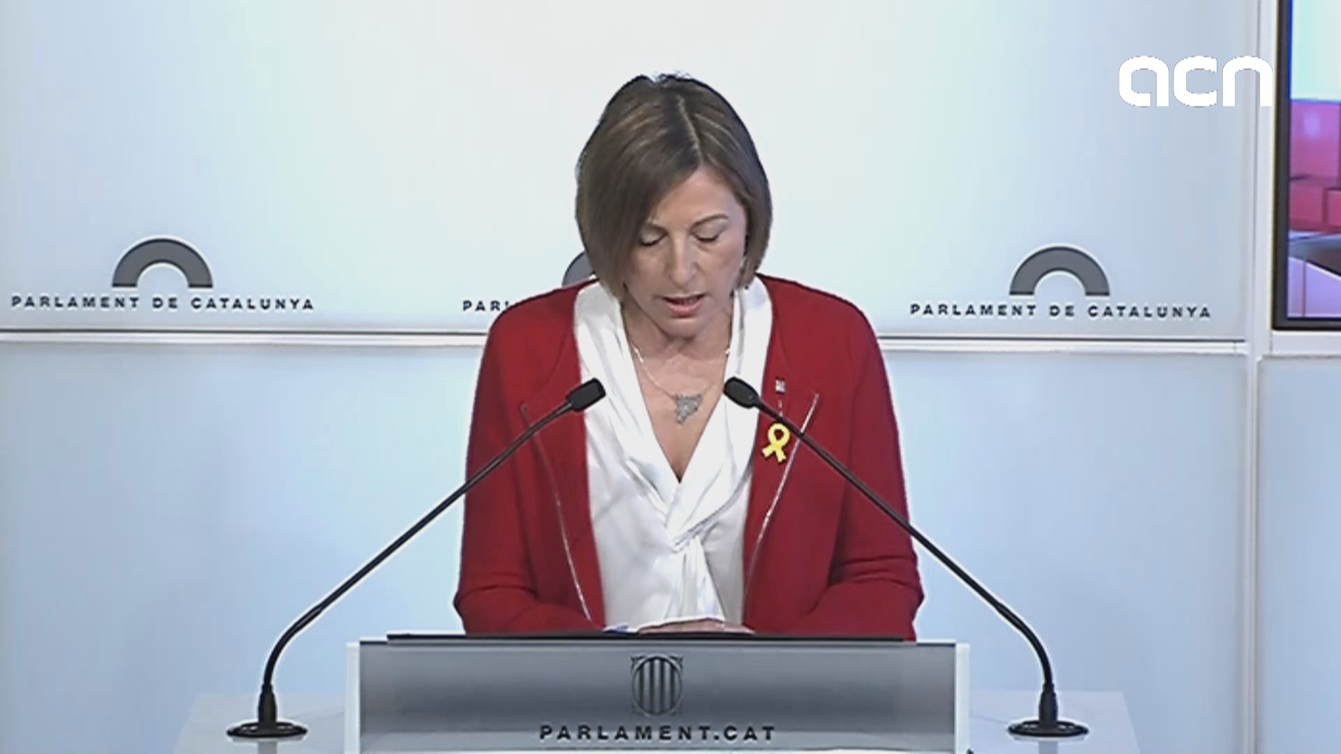 Carme Forcadell explains her decision