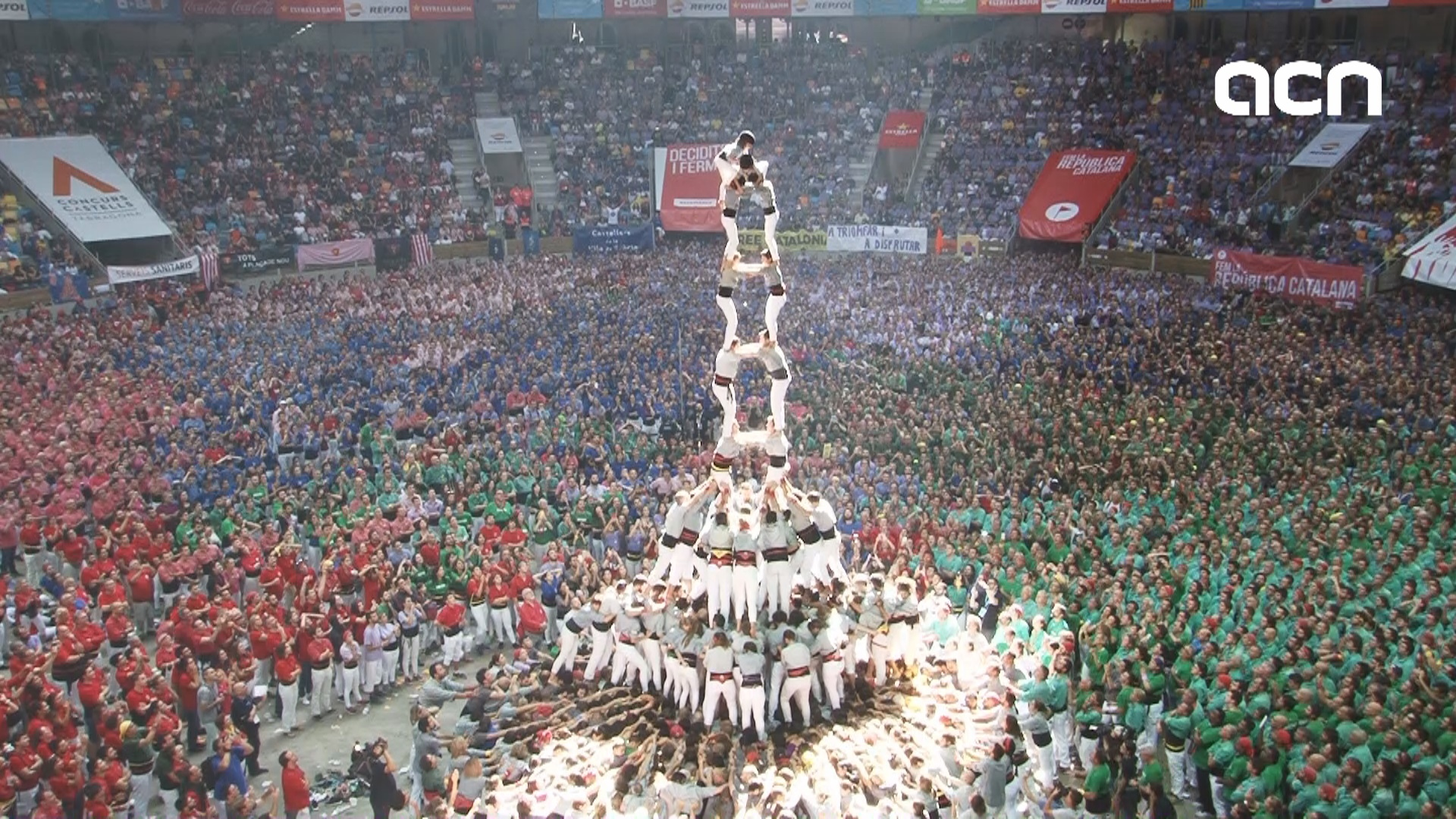 Vella de Valls, winner of Tarragona human tower competition