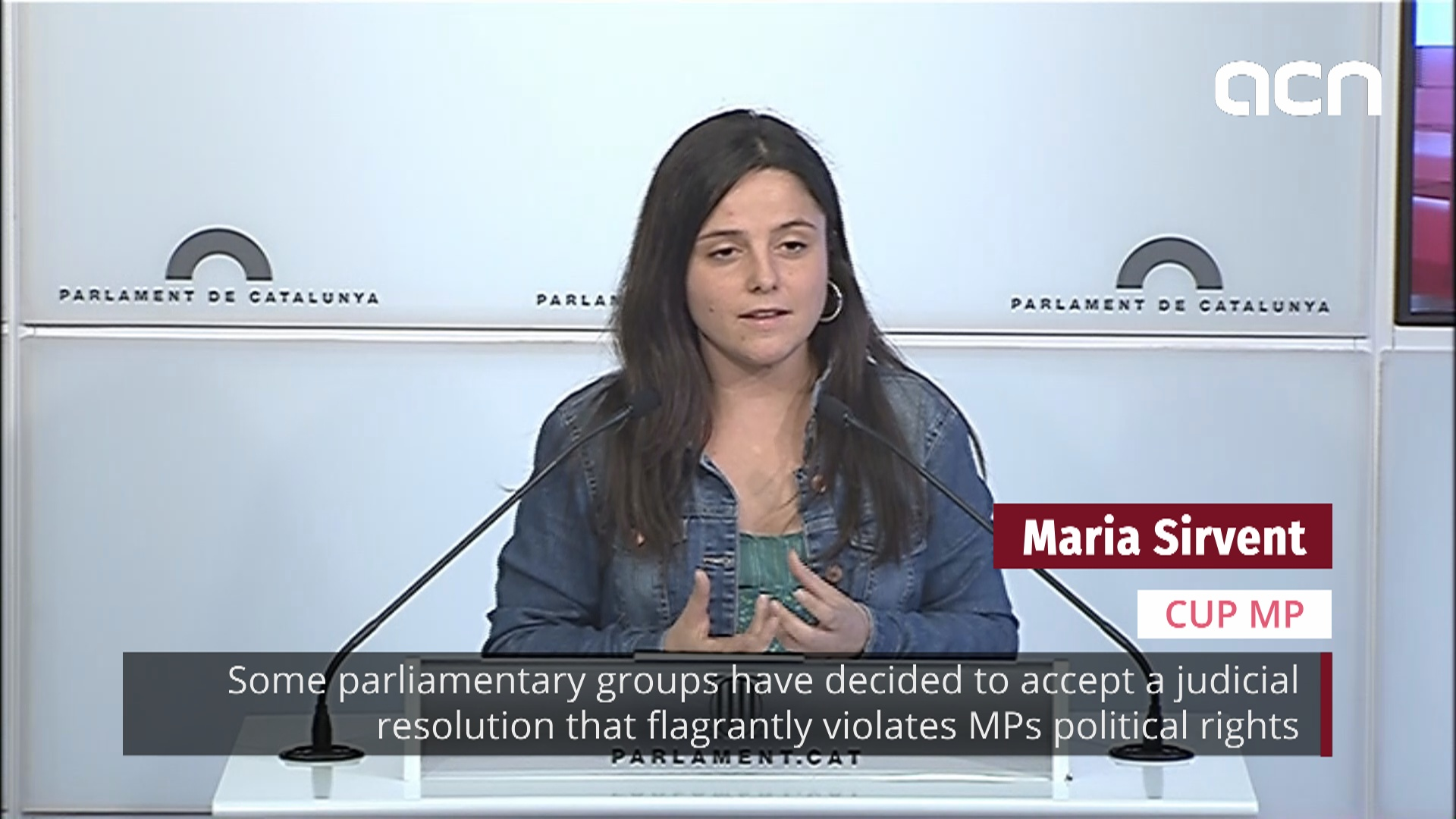 CUP: 'Some groups accept resolution that violates MPs rights'