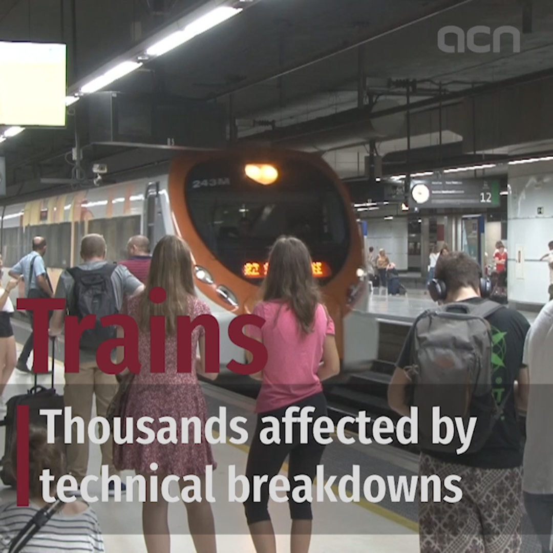 90 minute delays on train lines around Barcelona