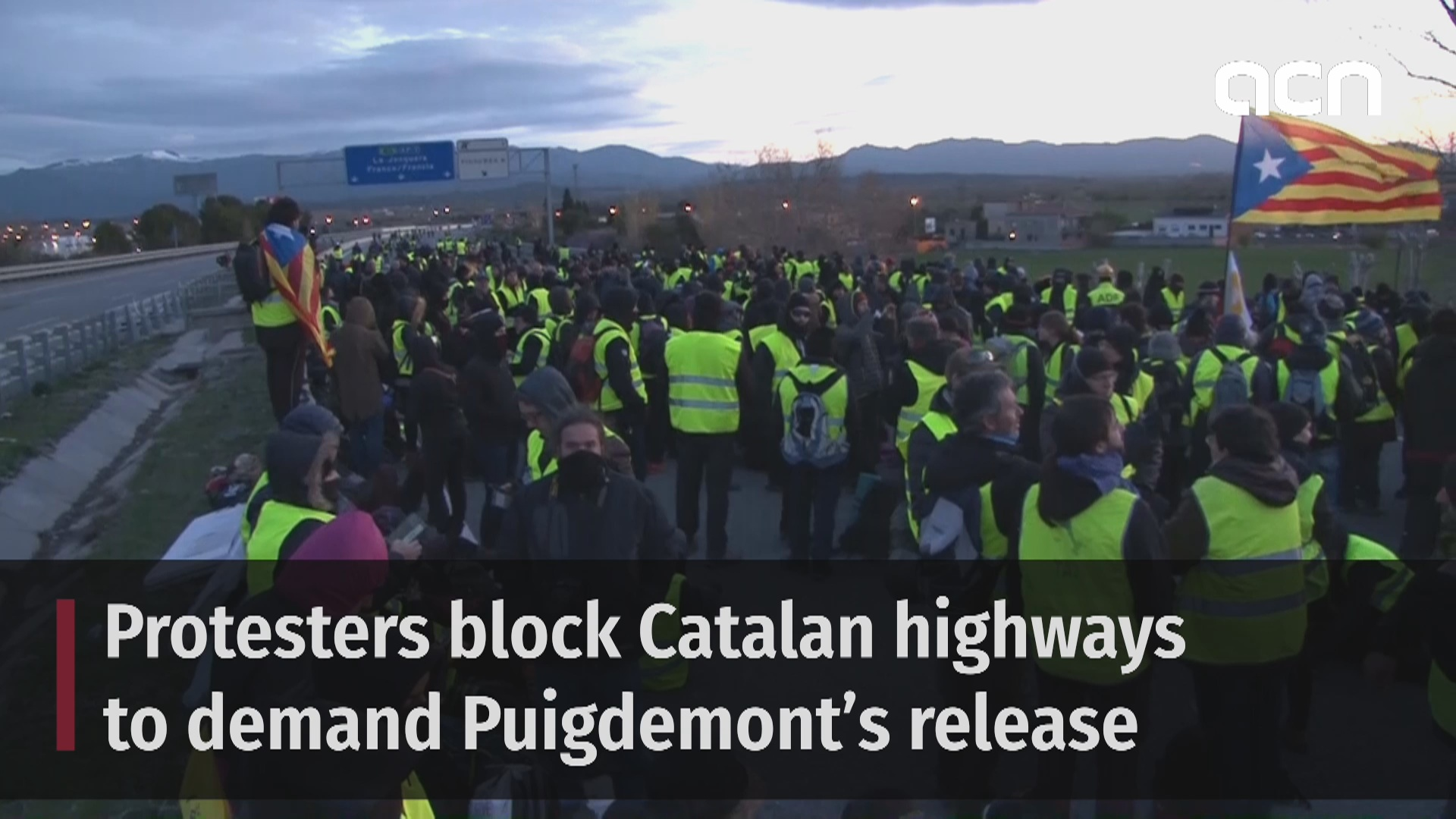 Protesters block Catalan highways to demand Puigdemont's release