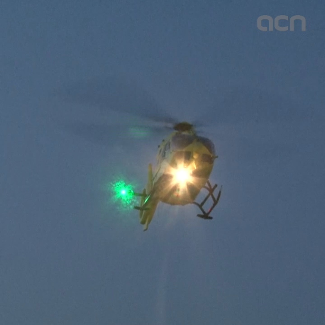 New night medical helicopter service launched