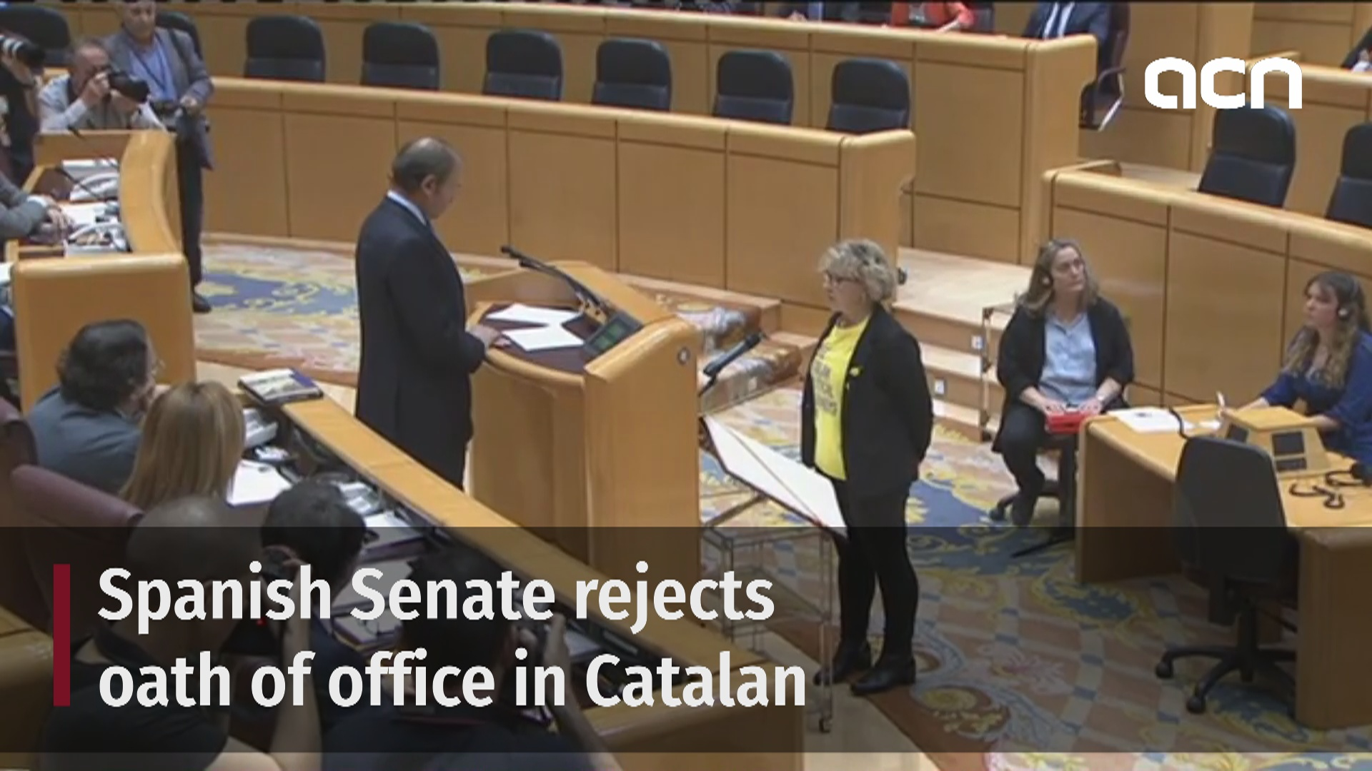 Controversy in Senate as official taking oath in Catalan obliged to speak in Spanish