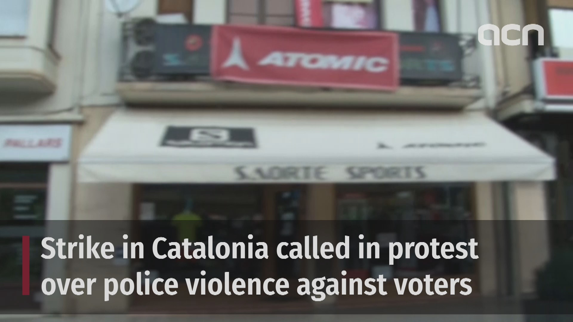 Catalonia on strike in protest against Spain's police violence