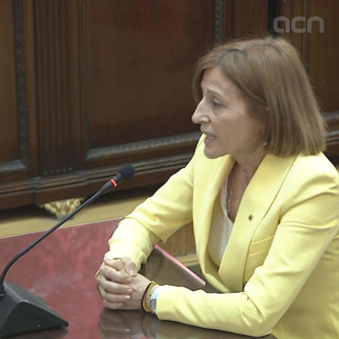 Carme Forcadell says she is being tried for her political career