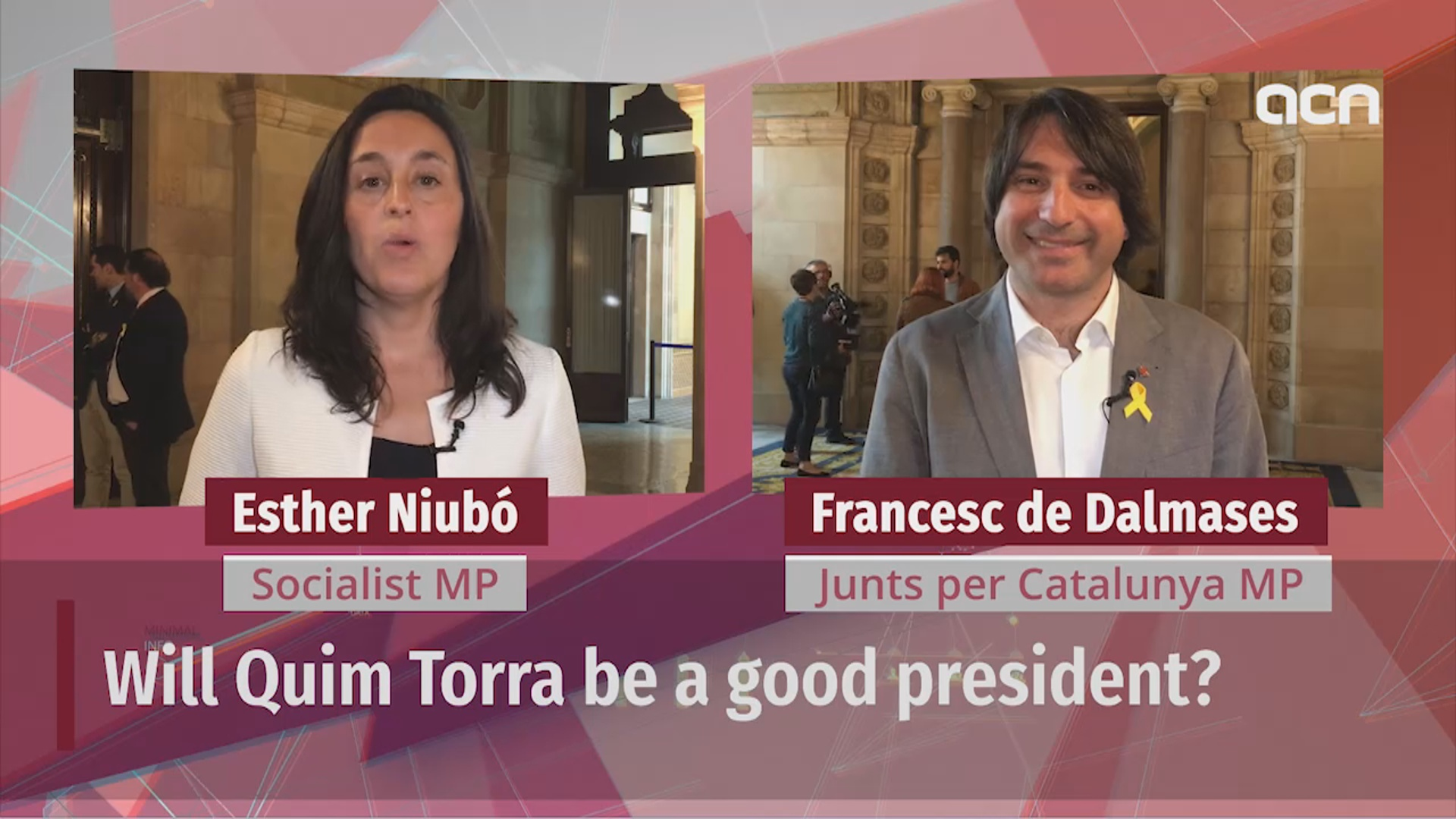 Two MPs evaluate election of Quim Torra
