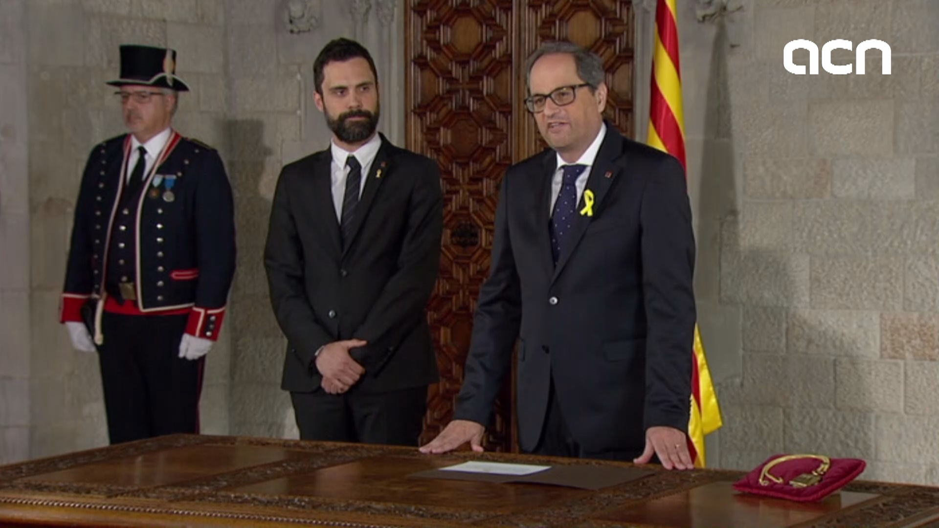 Quim Torra takes oath as Catalan president in government HQ