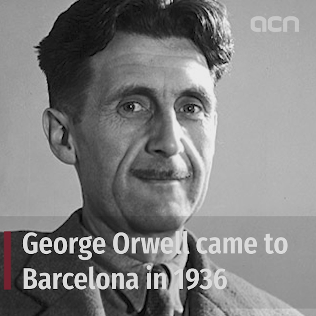 George Orwell's son follows father's steps in Barcelona