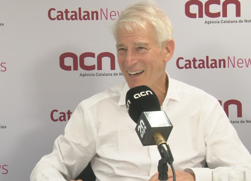 Polyglot Steve Kaufmann during an interview with the Catalan News Agency (by Alicia Egorov)