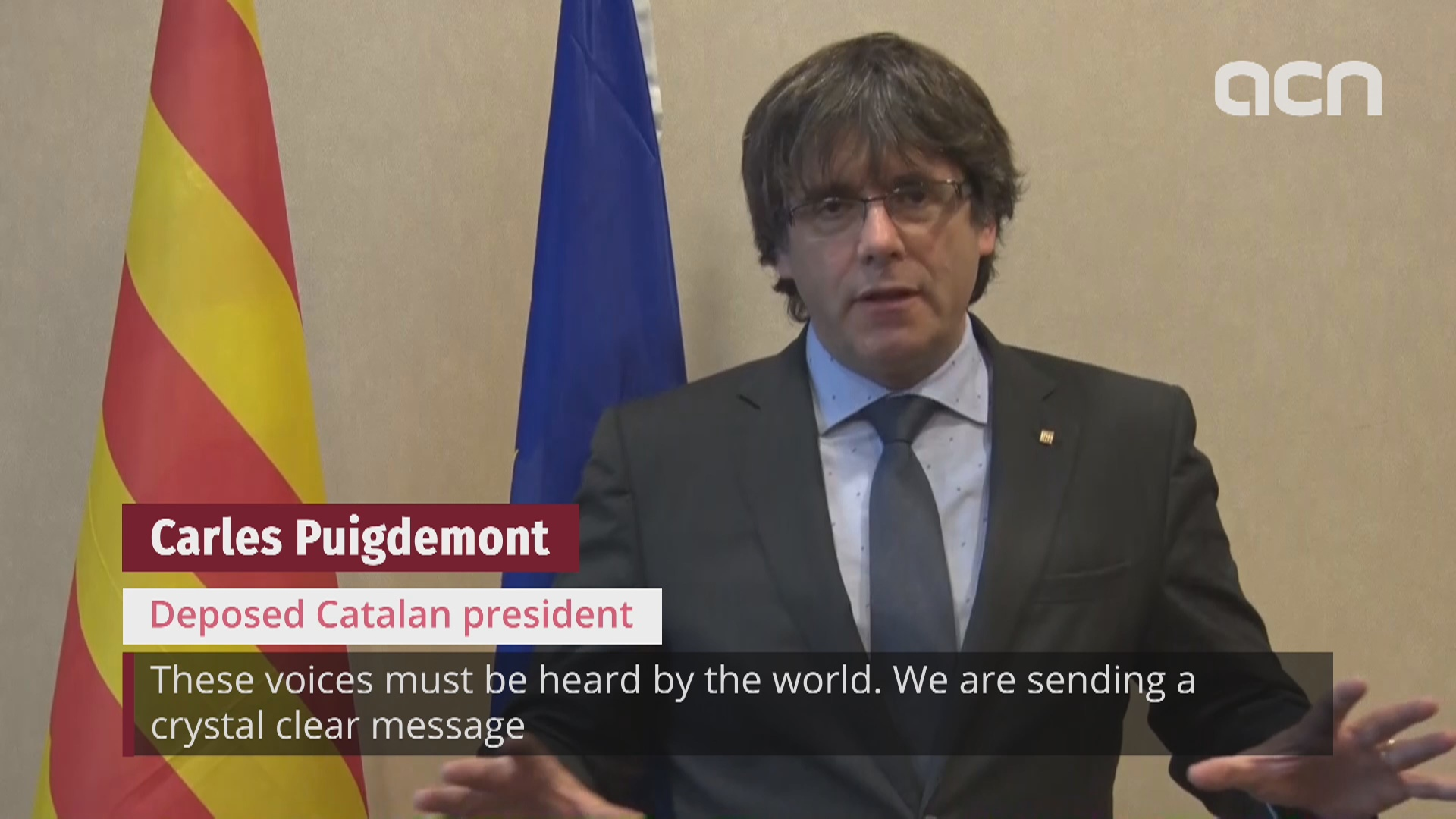 President calls for 'loud and clear' message from Catalan public