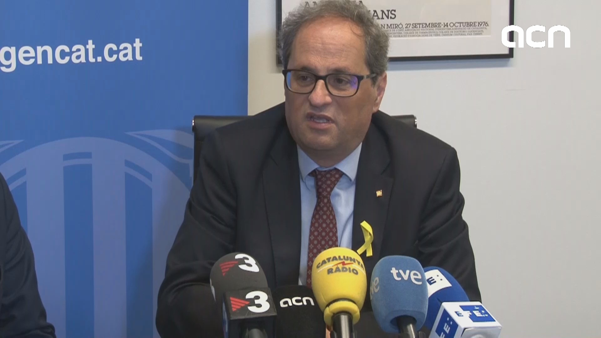 """If we have a binding, effective referendum, anything can happen,"" says  Quim Torra"