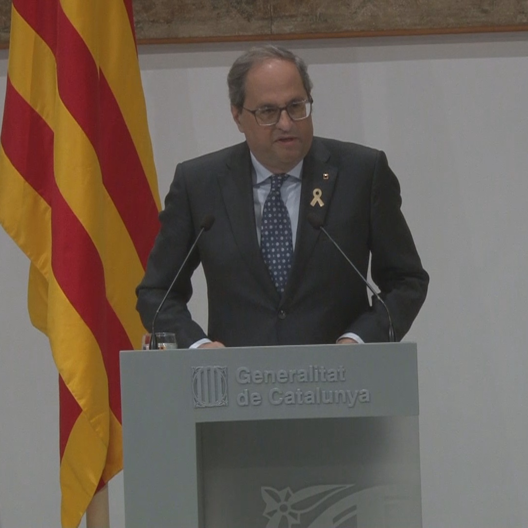 Torra criticizes Spanish ruling as a 'lack of judicial independence'