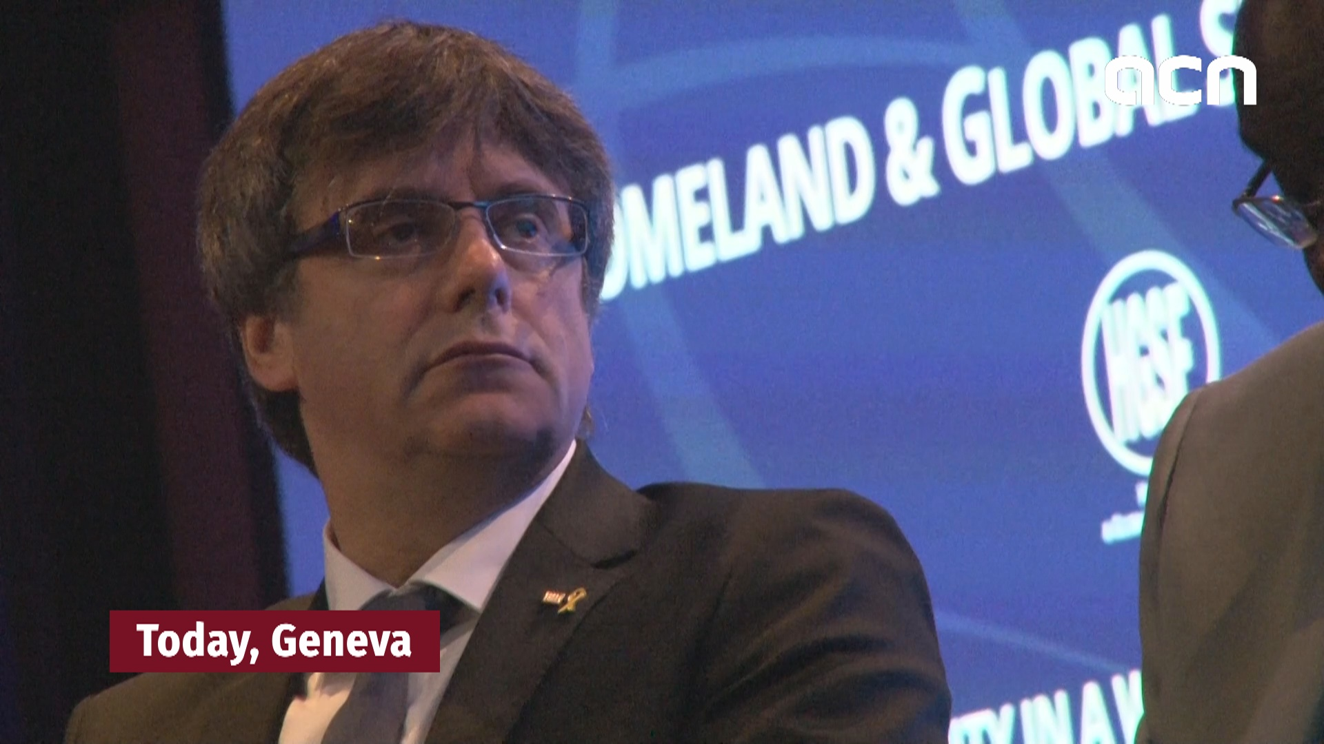 Puigdemont calls right to self-determination 'a tool for peace' in Geneva
