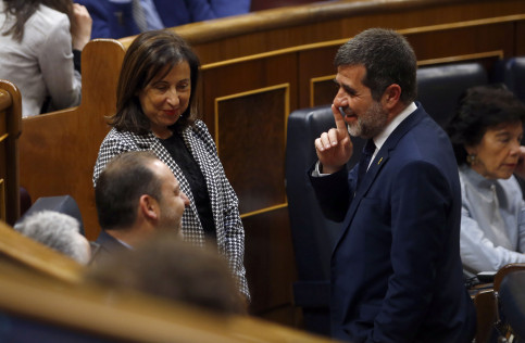 Jailed JxCat politician Jordi Sànchez at the parliamentary inauguration on May 21 (Javier Barnancho/ACN)