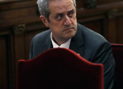 Joaquim Forn in the dock at the Catalan trial