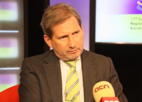 The European Commissioner for Regional Policy, Johannes Hahn, interviewed by the CNA (by B. Blay)