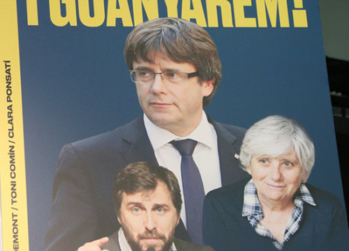 Junts per Catalunya's European election poster