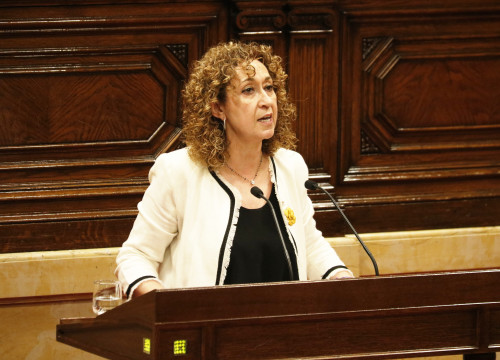 Justice Minister Esther Capella in Catalan Parliament on June 26, 2019 (Gerard Artigas/ACN)