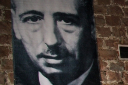 A picture portraying Lluís Companys, the Catalan President busted by the Gestapo and murdered by Franco's regime