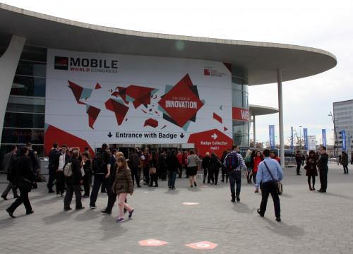 Entrance to the MWC' main venue, at Fira de Barcelona (by ACN)