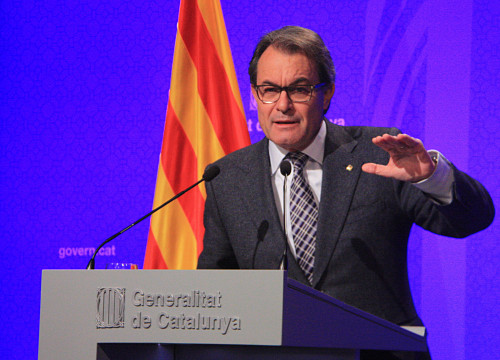 Current President, Artur Mas appeared before the media this Tuesday to comment on Spain's FLA's restrictions (by ACN)