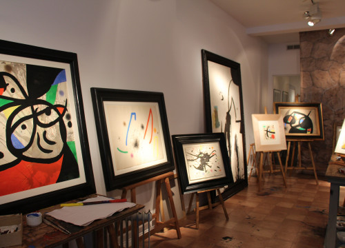 Image of the exhibition 'Miró's Studio' at London's Mayoral Gallery (by ACN)