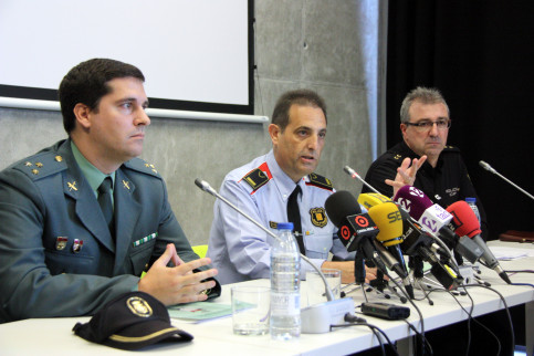 Mossos d'Esquadra's Criminal Investigation division's deputy chief, Ramon Grasa this Thursday before the media (by ACN)