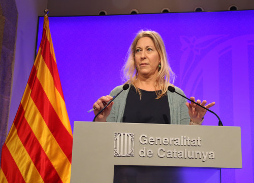 Catalan Government's Spokeswoman, Neus Munté, addressing the press this Tuesday (by ACN)