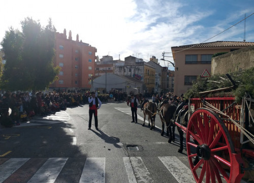 One of the carriages from the Tres Tombs in Valls on January 13 2019 (by ACN)