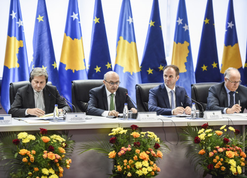 Image of a visit of European Commission officials to Kosovo in November 2016 (by EBS)