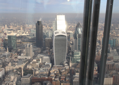 View from London's Shard's viewpoint, at 390 metres height (by ACN)