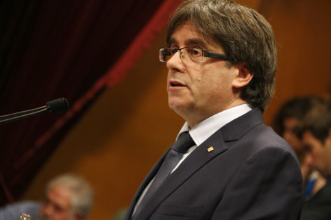 Catalan President, Carles Puigdemont, during his vote of confidence's speech (by ACN)