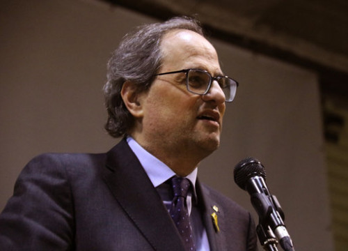 Quim Torra attends a PDeCAT event on December 19 2018 (by Bernat Vilaró)