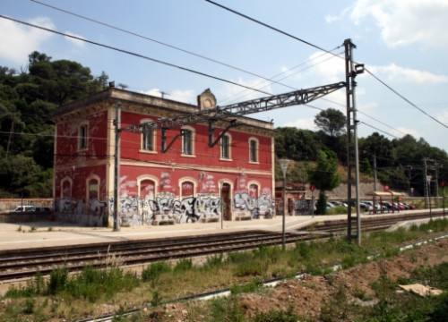 The RENFE train station of Santa Maria de Palautordera in Catalonia (by ACN).