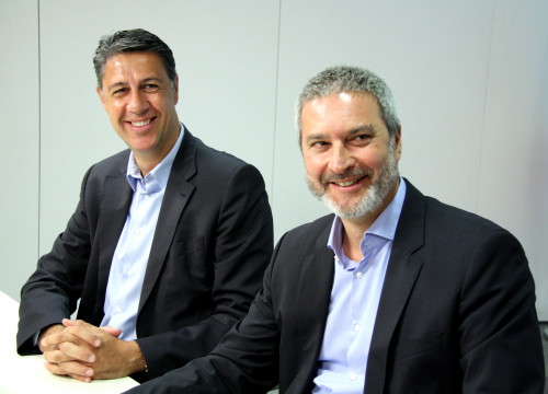 Former President of Societat Civil Catala, Ramon Bosch, next to Catalan People's Party leader, Xavier García Albiol (by ACN)