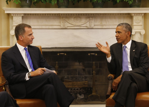 Spain's King, Philip VI and US President, Barack Obama, on a meeting held in September (by ACN)