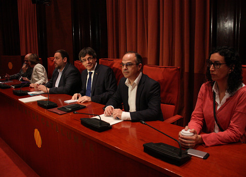 'Junts Pel Sí' members met this Wednesday after CUP confirmedt their veto on  the budget for 2016 (by ACN)