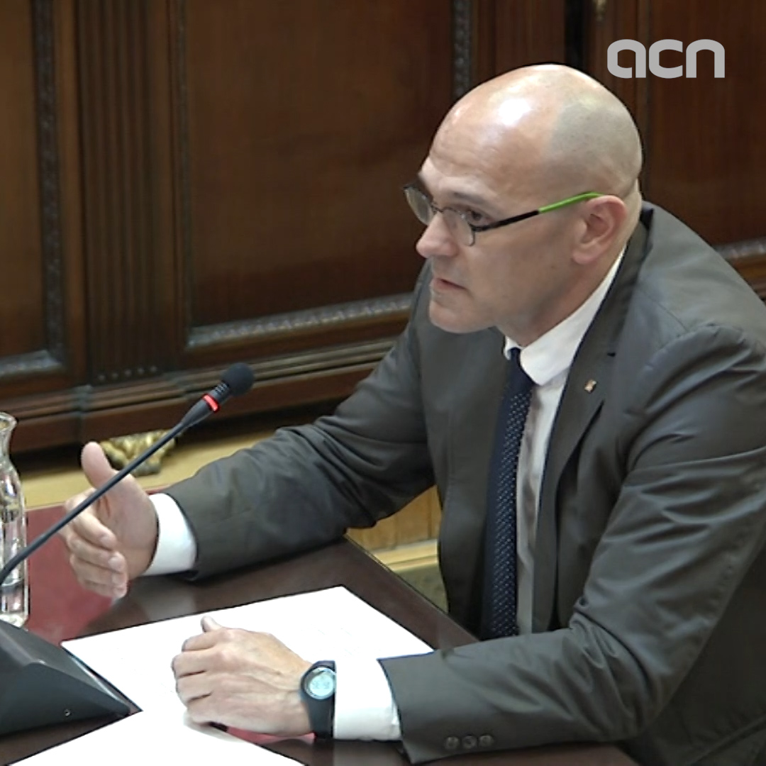 Raül Romeva: 'Not only are 12 people being judged, but more than 2 million'