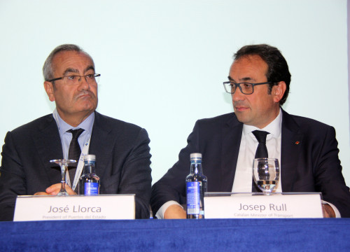 On the right, Catalan Minister for Territory,Josep Rull, at ESPO Conference in Barcelona (by ACN)