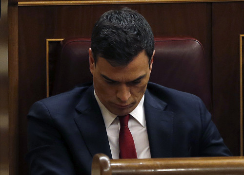 Spanish Socialist leader, Pedro Sánchez (by ACN)