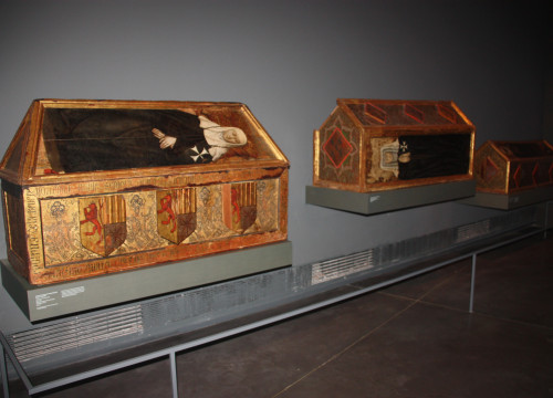 Three sepulchres of the Monastery of Santa Maria of Sixena, currently kept at the Museum of Lleida (by ACN)