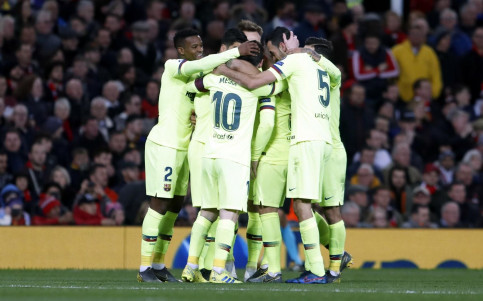 Some Barça members embrace to celebrate their victory on April 10 2019 (courtesy of FCBarcelona)