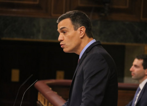 Spanish president Pedro Sánchez on December 12 2018 (by Bernat Vilaró)