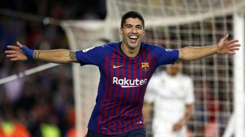 Suárez, scorer of a hat trick (courtesy of  FCBarcelona)