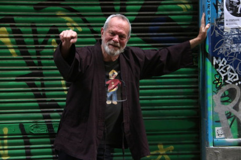 Terry Gilliam in Barcelona's Raval neighborhood on March 12 2019 (by Pau Cortina)