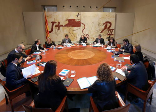 The Catalan government cabinet meeting on January 8 2018 (by Rubén Moreno, presidency)