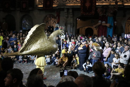 The 'dance of the eagle' at the Festes de Sant Narcís in Girona in 2017 (by Xavier Pi)